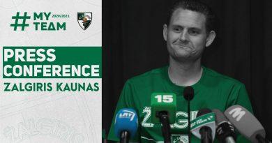 Martin Schiller: erste PK als Coach von Zalgiris Kaunas